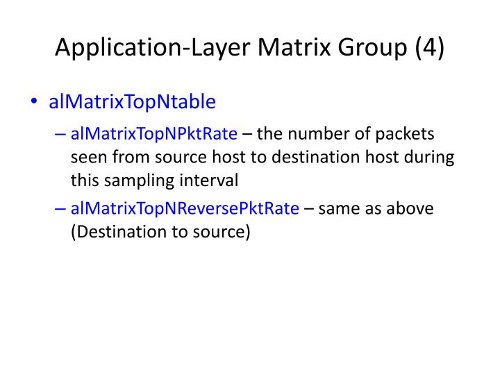 Application-Layer Matrix Group (4)