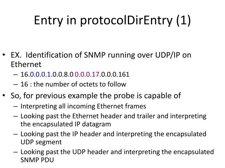 Entry in protocolDirEntry (1)