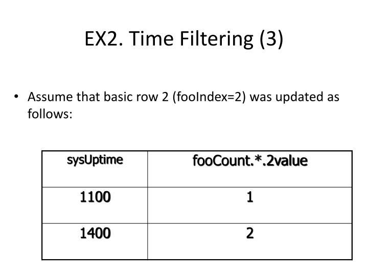 EX2. Time Filtering (3)