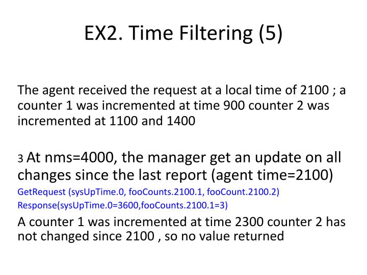 EX2. Time Filtering (5)