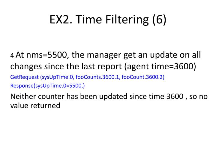 EX2. Time Filtering (6)