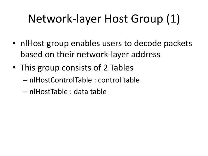 Network-layer Host Group (1)