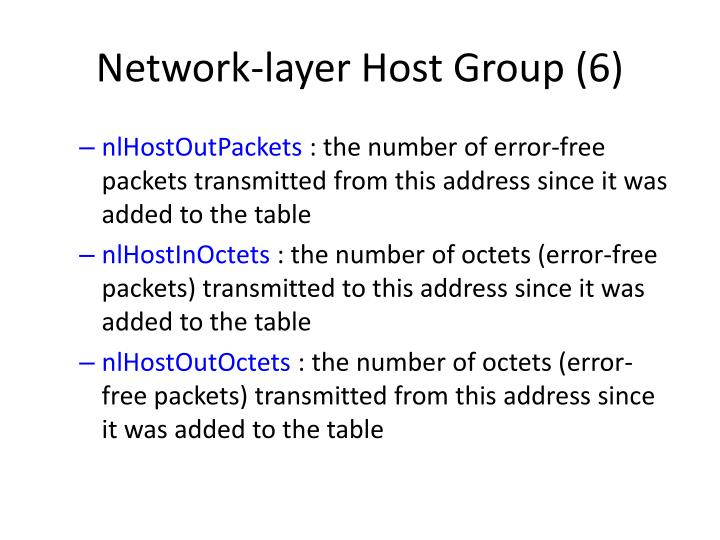 Network-layer Host Group (6)