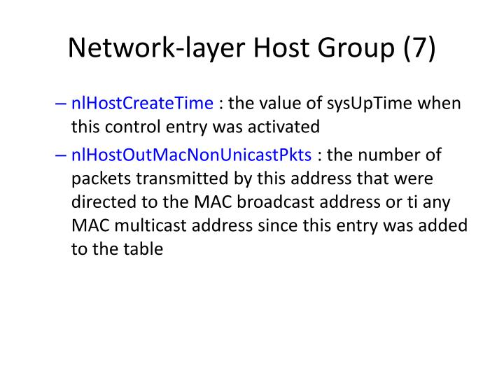 Network-layer Host Group (7)
