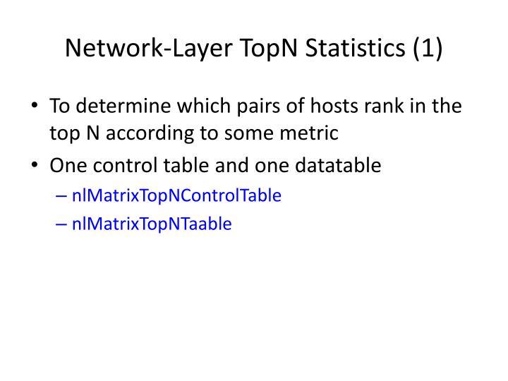 Network-Layer TopN Statistics (1)