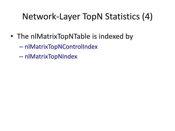 Network-Layer TopN Statistics (4)
