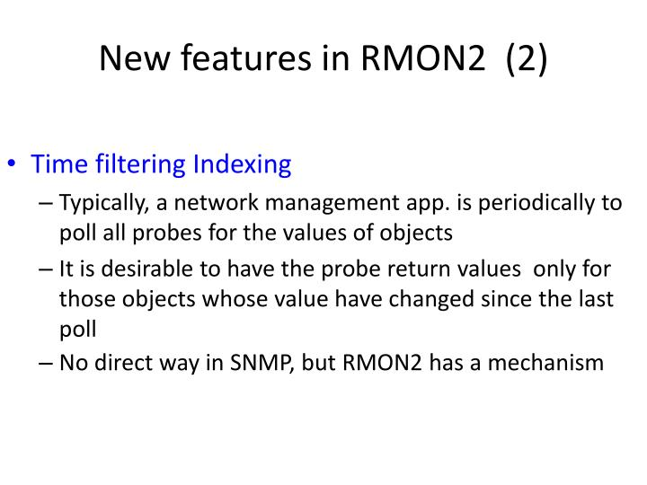 New features in RMON2  (2)