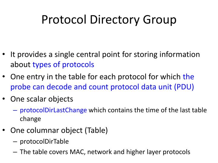 Protocol Directory Group