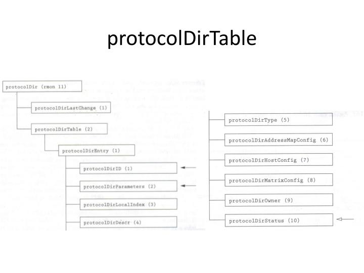 protocolDirTable