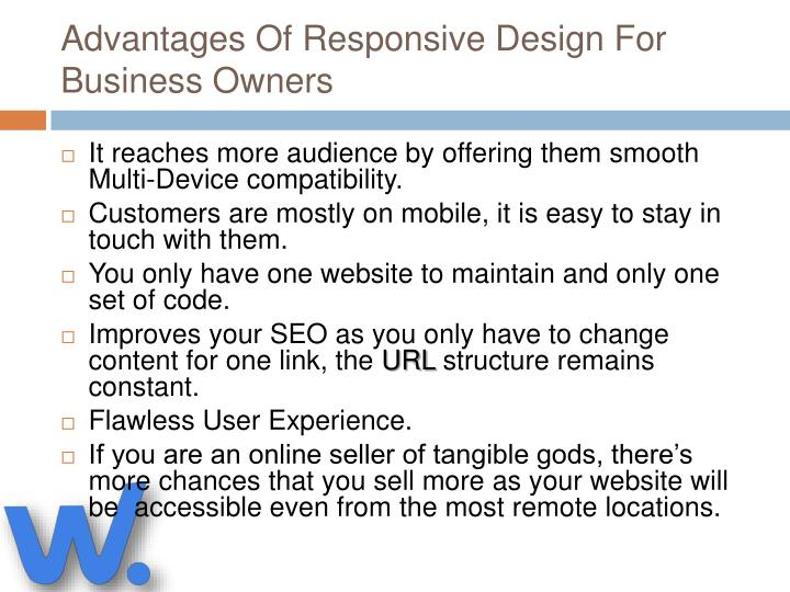 Advantages of responsive design for business owners