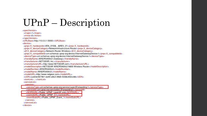 UPnP – Description