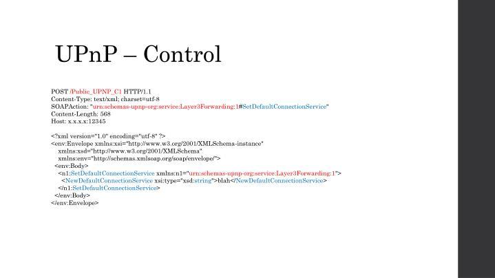 UPnP – Control