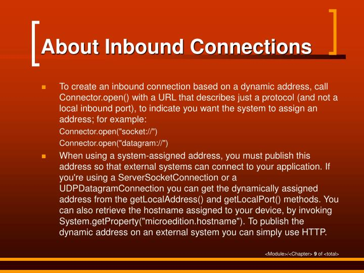 About Inbound Connections