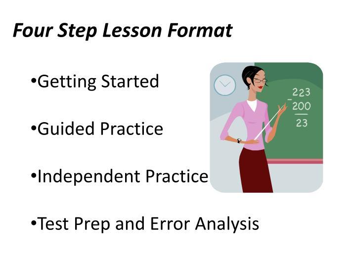 Four Step Lesson Format