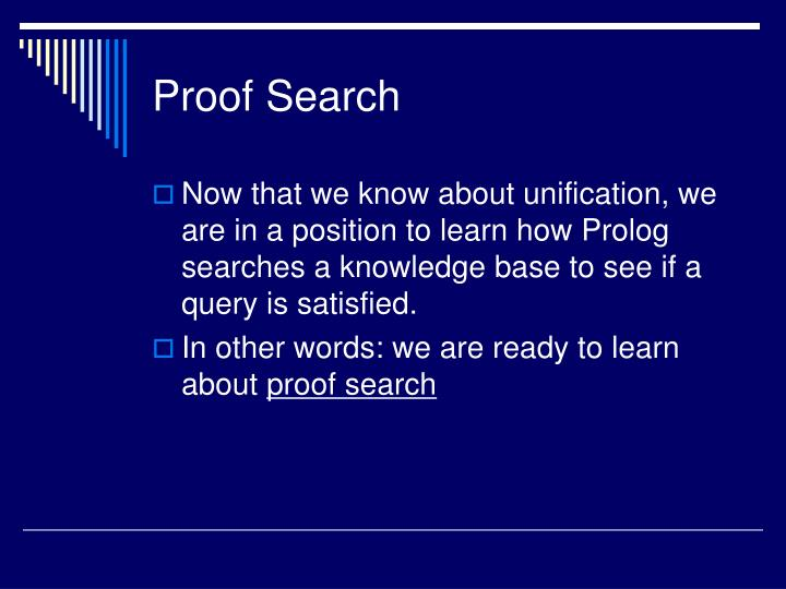 Proof Search