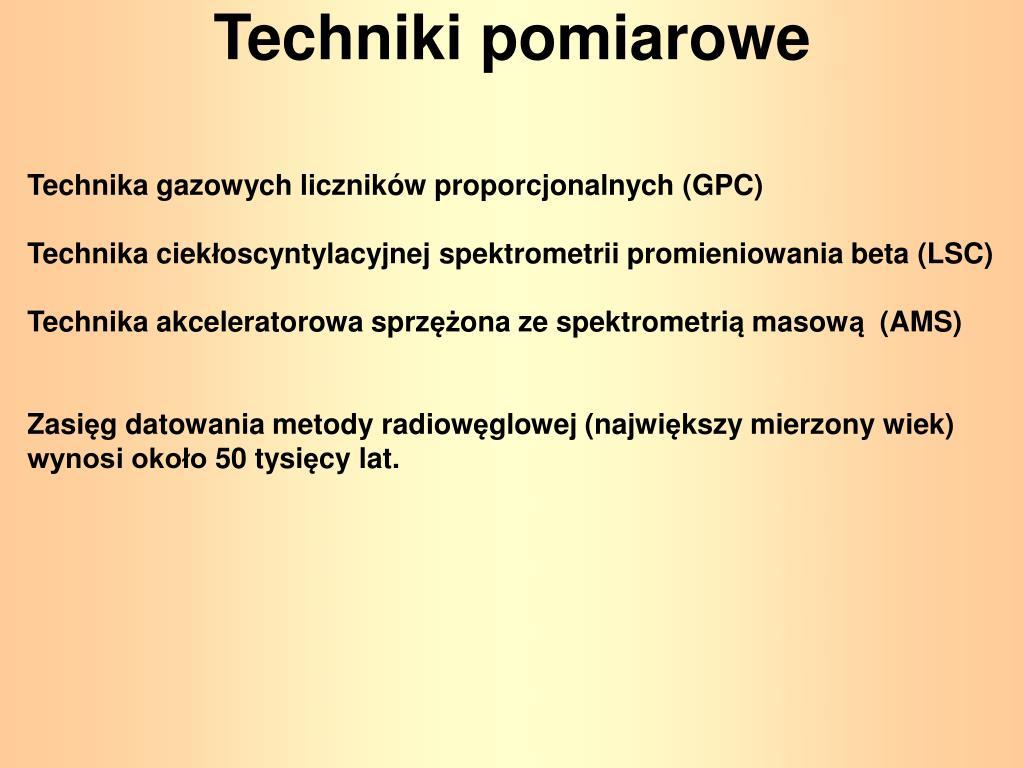 Rodzaje technik datowania radioaktywnego