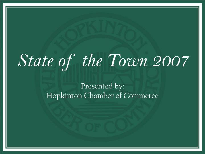 state of the town n.