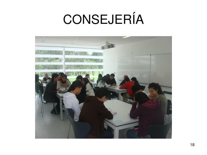 CONSEJERÍA
