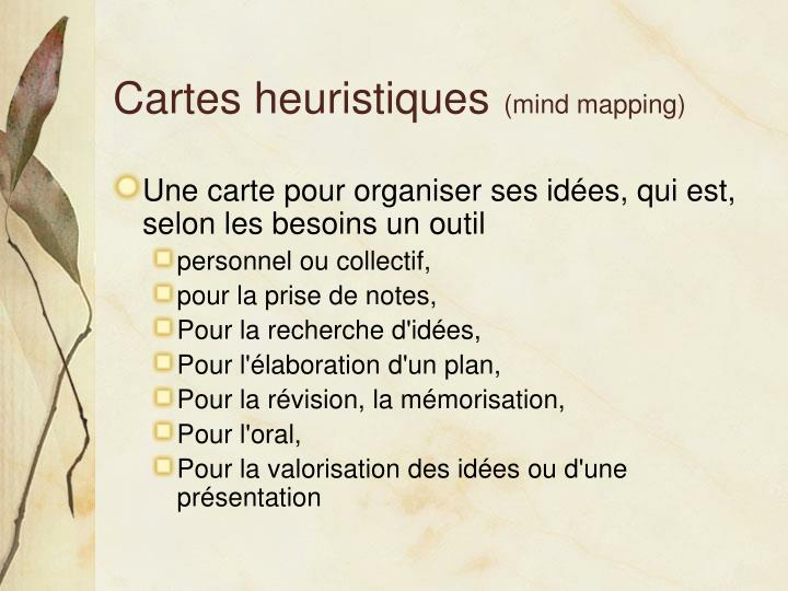 Cartes heuristiques mind mapping