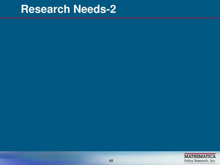 Research Needs-2