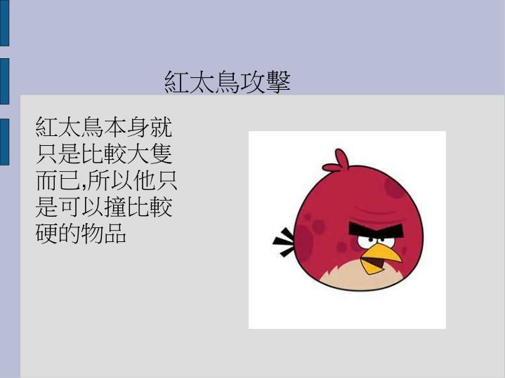 紅太鳥攻擊
