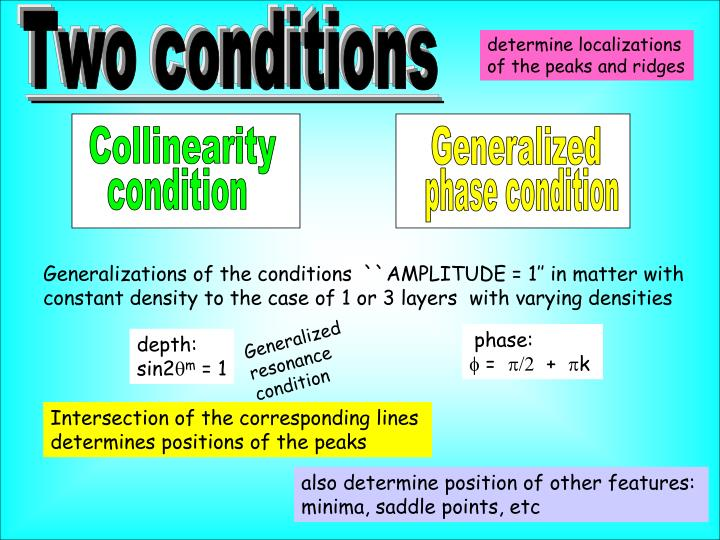 Two conditions