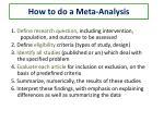 how to do a meta analysis