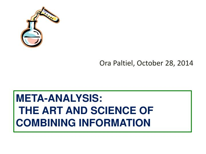 meta analysis the art and science of combining information n.