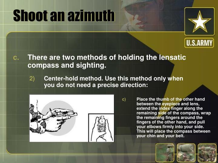 Shoot an azimuth