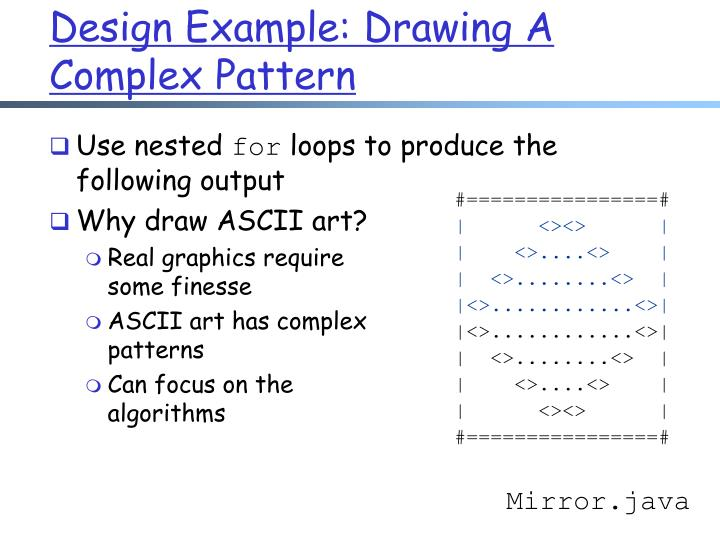 Design Example: Drawing A Complex Pattern