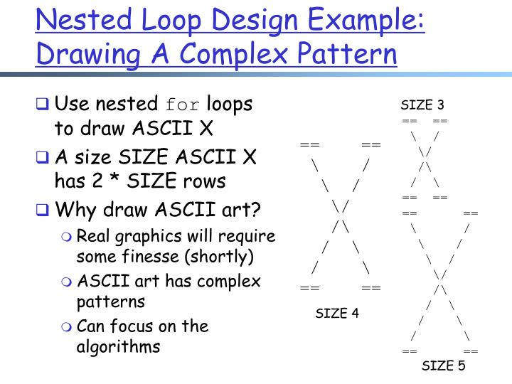 Nested Loop Design Example: Drawing A Complex Pattern