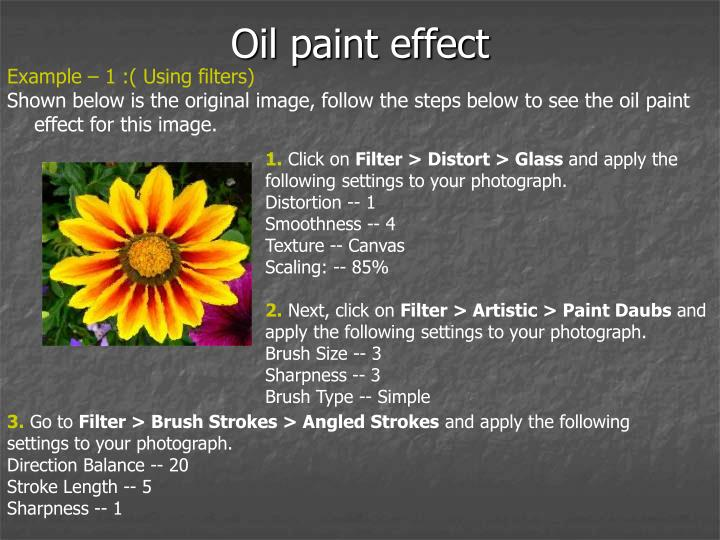 Oil paint effect