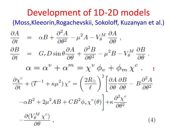 Development of 1D-2D models