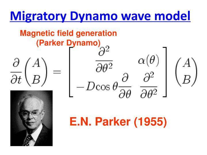 Migratory Dynamo wave model
