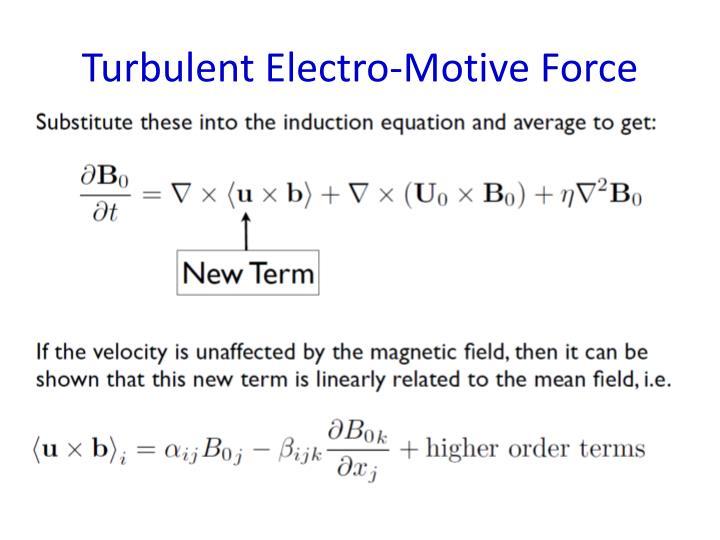 Turbulent Electro-Motive Force
