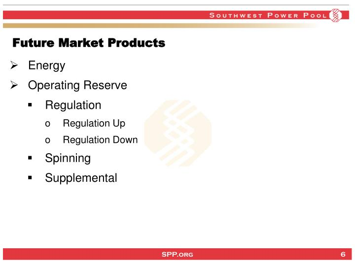 Future Market Products
