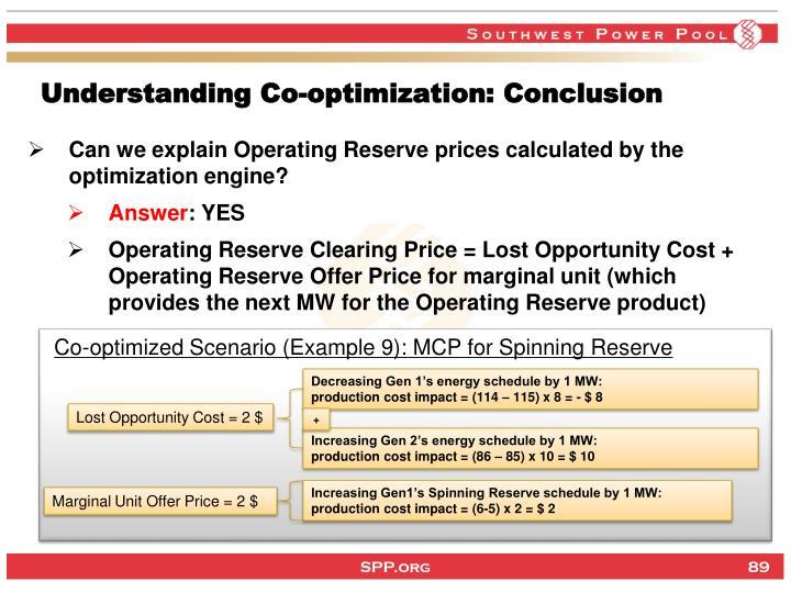 Understanding Co-optimization: Conclusion