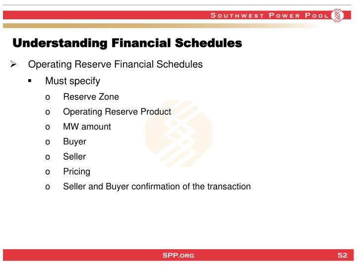 Understanding Financial Schedules