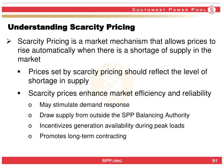 Understanding Scarcity Pricing