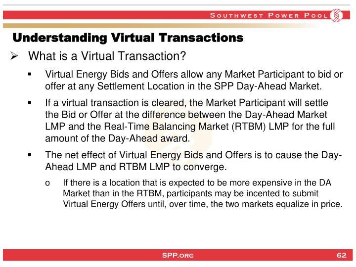 Understanding Virtual Transactions