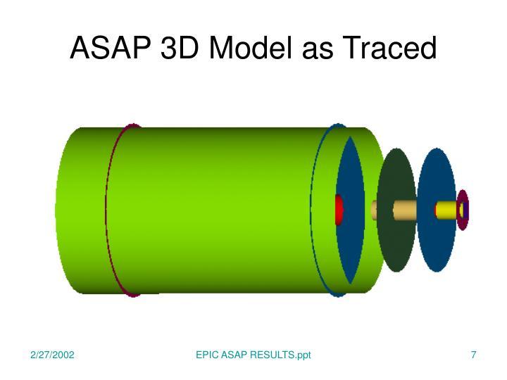 ASAP 3D Model as Traced
