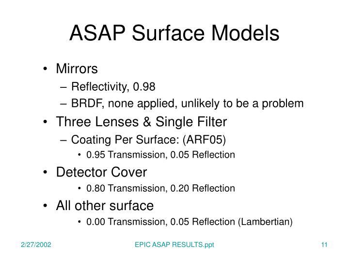 ASAP Surface Models