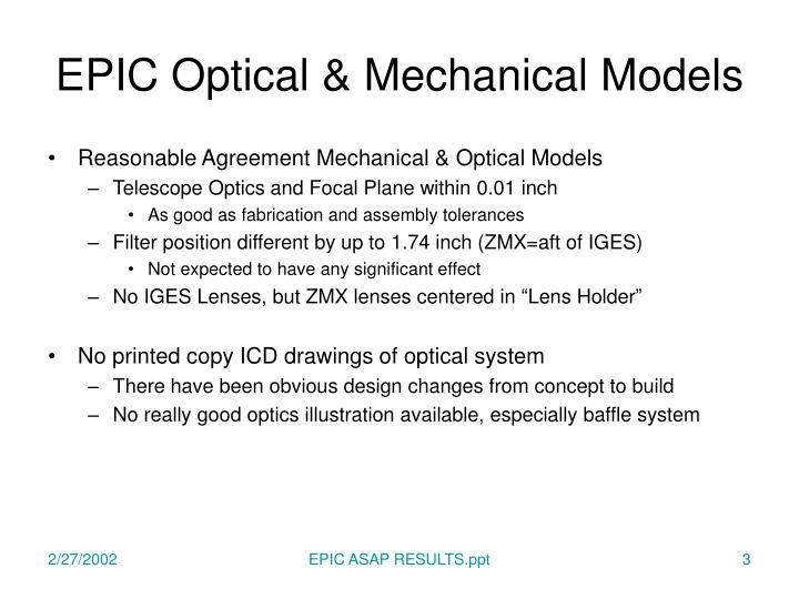 Epic optical mechanical models1