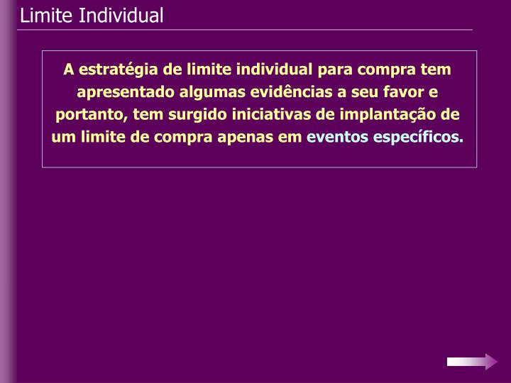 Limite Individual