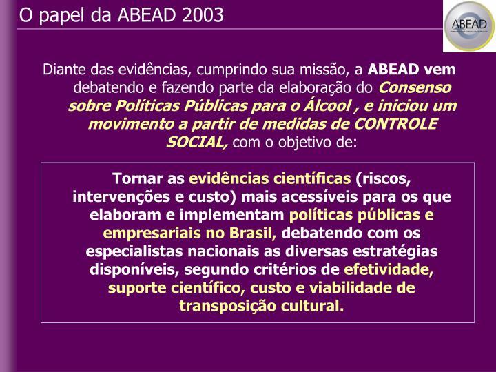 O papel da ABEAD 2003