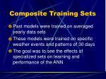 composite training sets