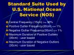 standard suite used by u s national ocean service nos