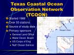 texas coastal ocean observation network tcoon