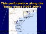 tide performance along the texas coast 1997 2001
