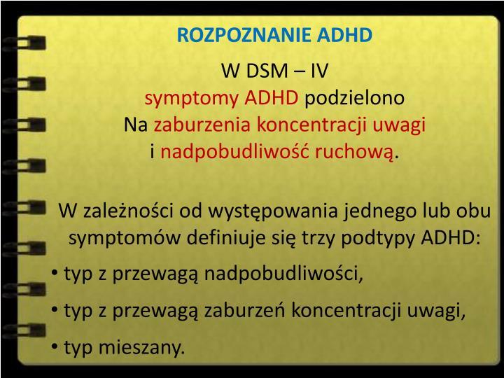 ROZPOZNANIE ADHD